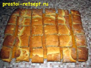 Пирог лимонник: разрезать теплым
