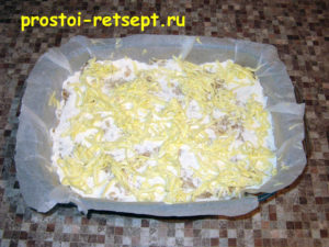 Болгарский яблочный пирог: снова слой сухой смеси и масло