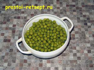 Рецепт винегрета: зеленый горошек