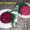 Рецепт винегрета: два варианта блюда