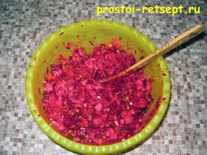 Рецепт винегрета: смешать все ингредиенты