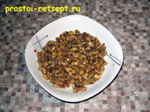 Рулет из фарша (тирольский попьет): грибы остудить